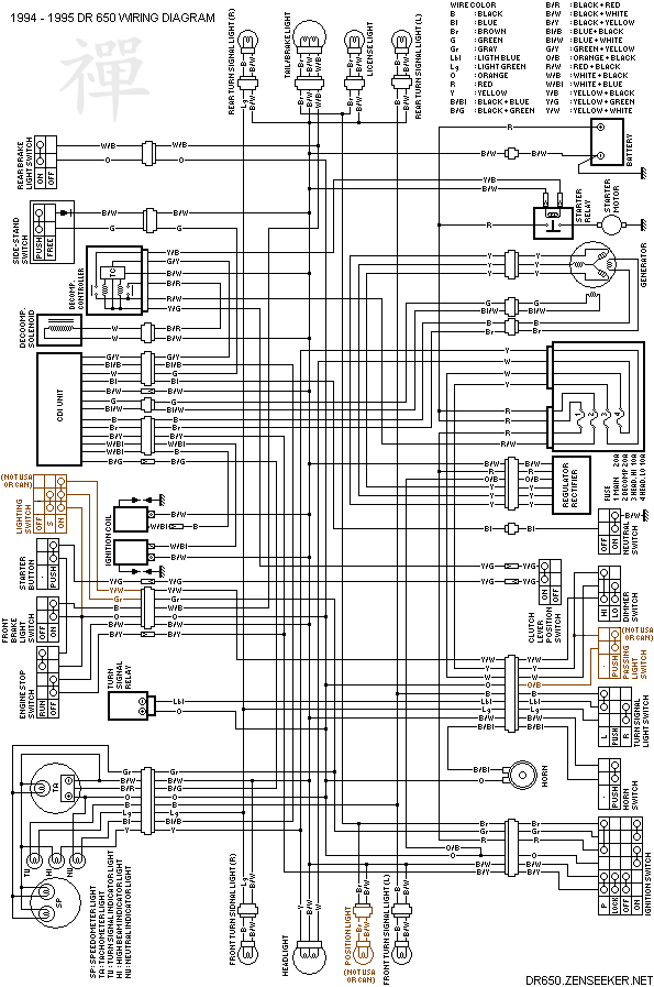 DR650Wiring suzuki dr650 electrical page Dodge Ram 3500 Wiring Diagram at soozxer.org