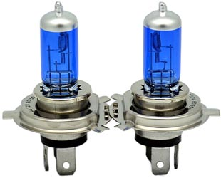 Blue H4 Bulbs