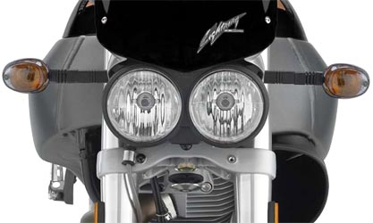 Buell Motorcycle with Double Headlights