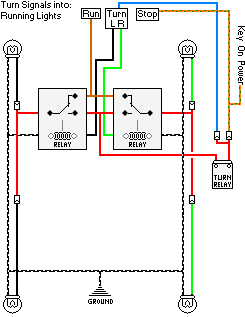 Dr650 signal lights page wiring diagram turnsignals into running lights asfbconference2016 Choice Image