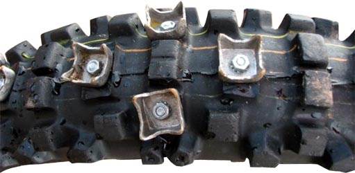 Suzuki dr650 tires page this is where traction options begin to get a little extreme riders have used large teeth like studs used in snowmobiles on their bikes solutioingenieria Gallery